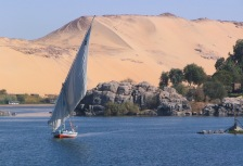 Nile River cruise in a traditional Aswan