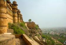 Cliffside Rajasthan Fort in Jaipur, India