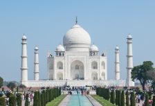 Beautiful Taj Mahal and reflecting pool in India