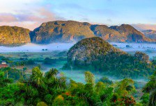 Early morning touring the countryside of Vinales in Cuba