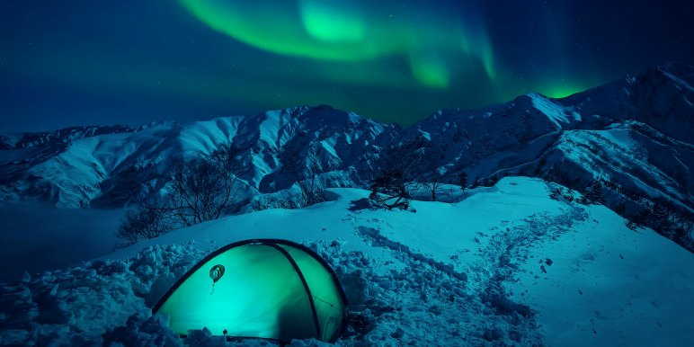 Camping to see the Northern Lights