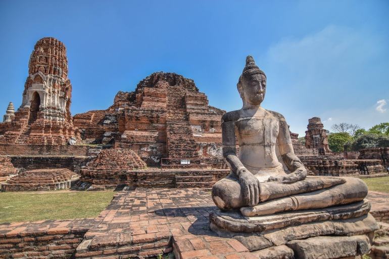 Ayutthaya structured with stone-Bangkok-2033589-P