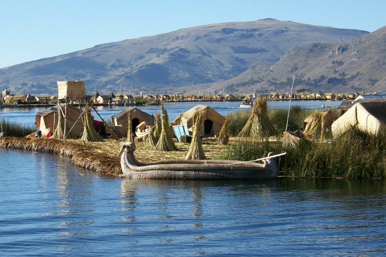 Floating Huts on Lake Titicaca, South America