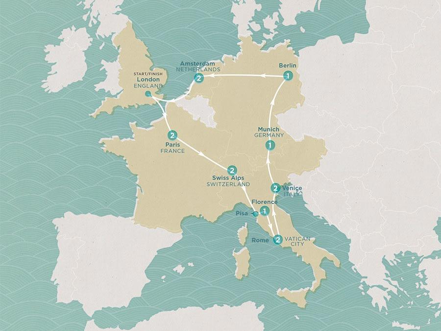 Alps Amsterdam European Wonder Trip