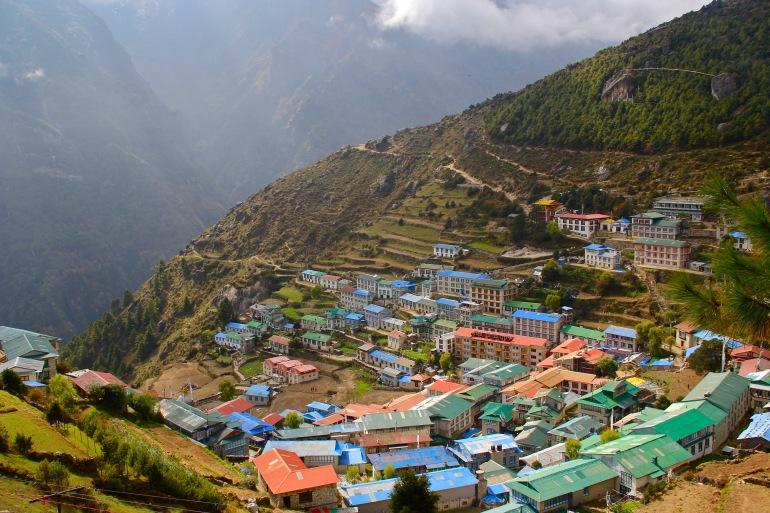 Colourful Namche Bazar, Namche, Nepal