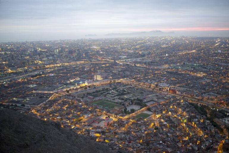 Sunset and Cityscape of Lima, Peru