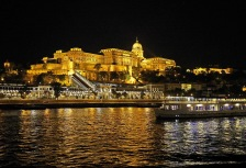 Danube River Cruise through Budapest at night