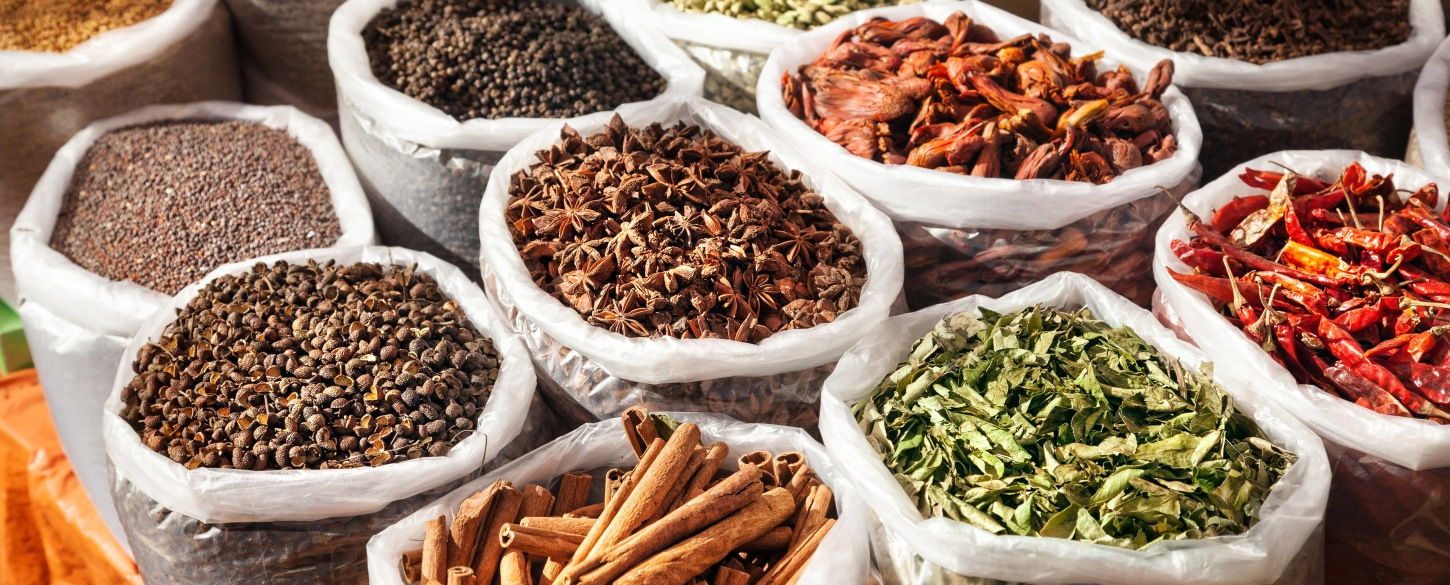 culinary tours Moroccan spices at the market