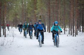 Fat biking in Finland tour