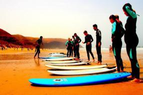 Surfing on Morocco's Atlantic coast