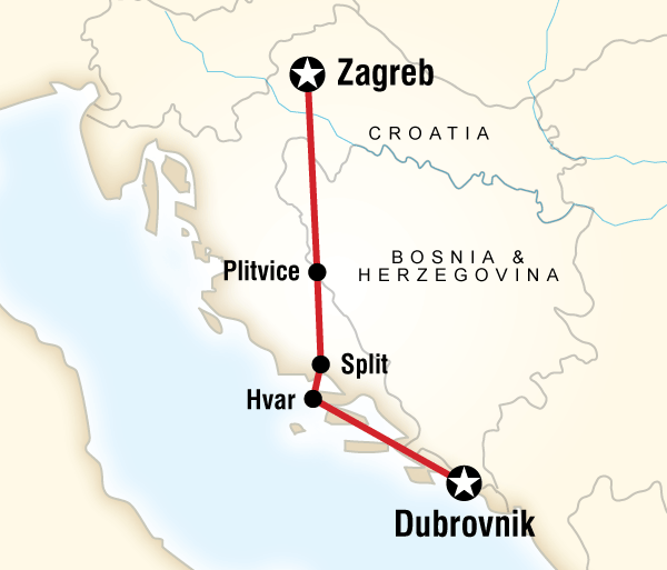 Croatia Diocletian's Palace Croatia Adventure–Zagreb to Dubrovnik Trip