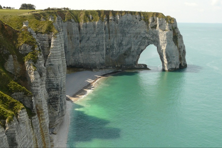 Etretat Cliffs view of Normandy, Europe