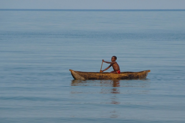 Lake Malawi view of Africa_P