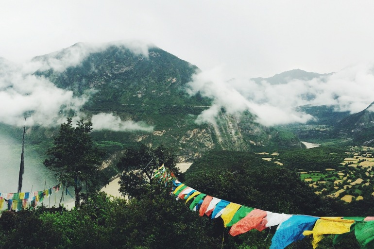 Mountains view of Tibet