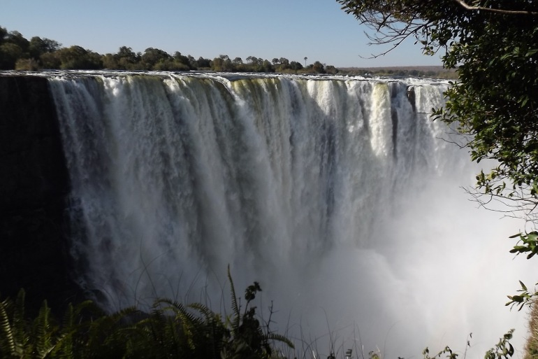 Victoria waterfalls at Africa