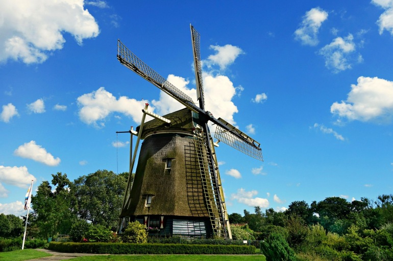 Windmill view of Amsterdam, Europe
