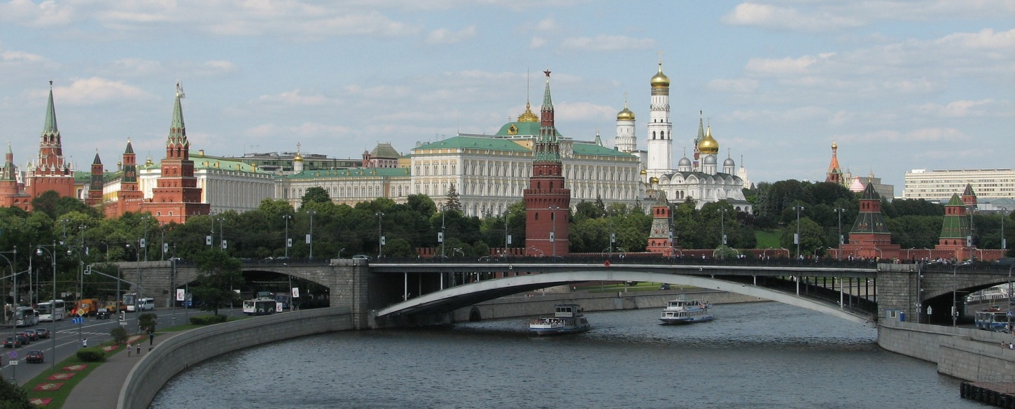 View of the Moscow River on Via Hansa tour