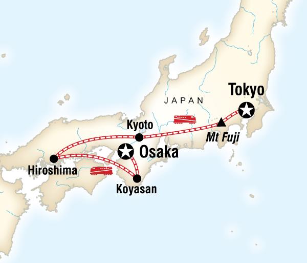 Hakone Hiroshima Japan Express: Osaka to Tokyo Trip