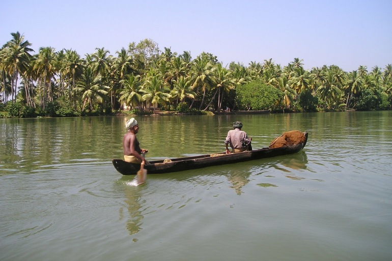 Fisher boat at Kerala, India