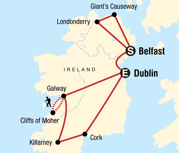 Belfast Cork Ireland Explorer Trip