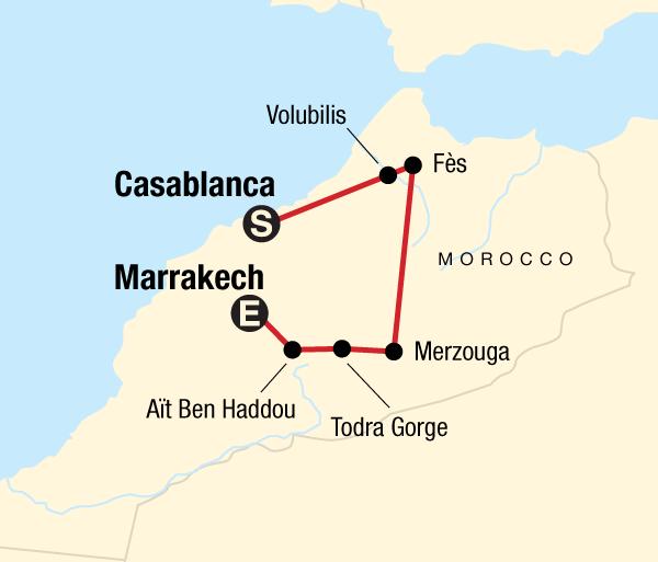 Atlas Mountains Casablanca Morocco Kasbahs & Desert Trip