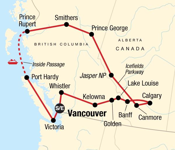 Calgary Canadian Rockies Canadian Rockies Encompassed Trip