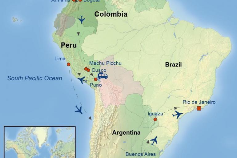 Bogota Buenos Aires Grand South America Trip