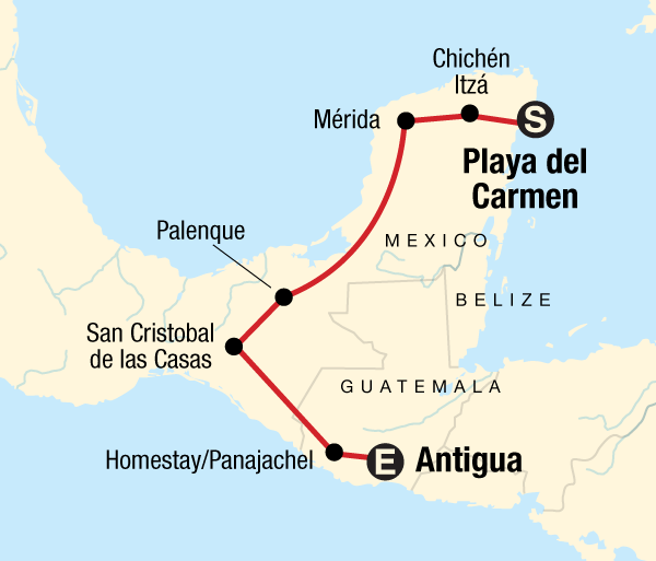 Antigua Cancún Mayan Trail Trip