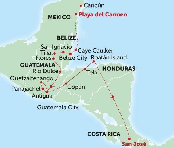 Adventure Culture Mexico to Costa Rica package