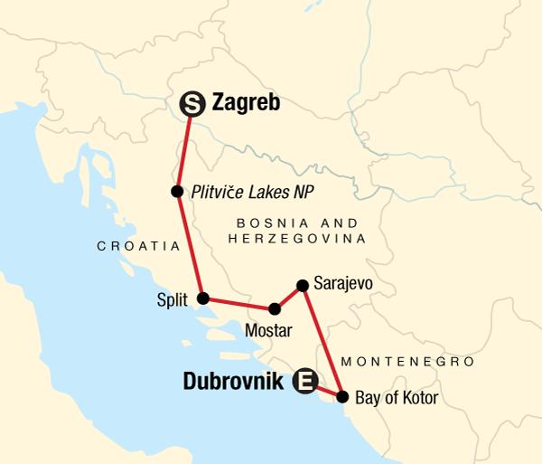 Croatia Dalmatian Coast Discover the Balkans Trip