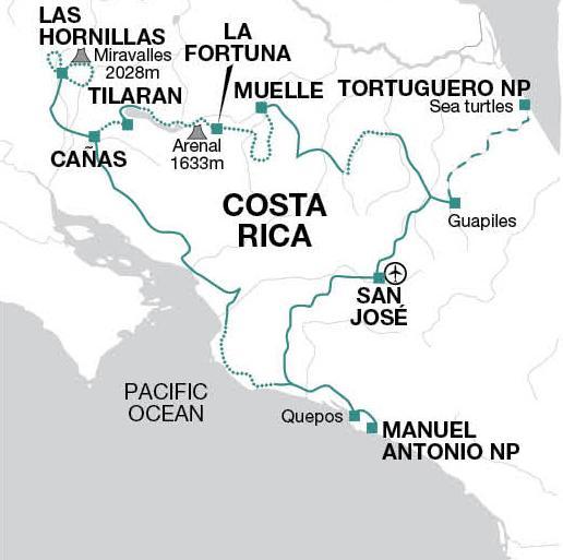 Guanacaste Manuel Antonio National Park Costa Rica on Two Wheels Trip