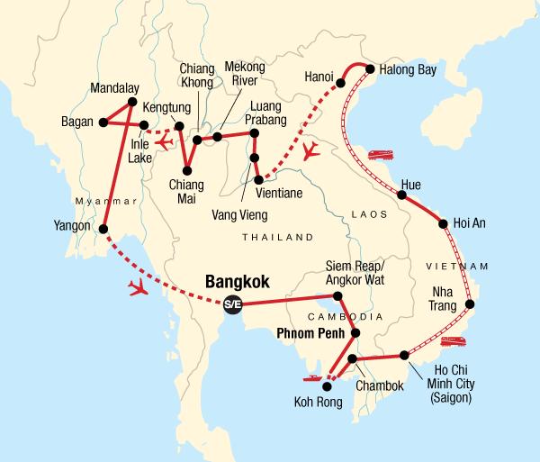 Angkor Wat Bagan Indochina In-Depth Trip