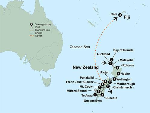 Dunedin Milford Sound Exploring New Zealand New Zealand's North & South Islands Trip