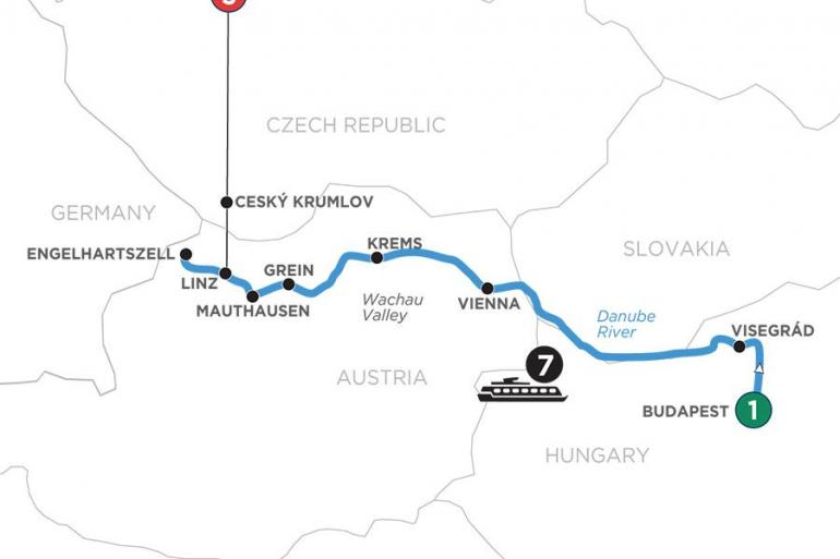 Budapest Linz Active & Discovery on the Danube with 3 Nights in Prague (Westbound) Trip