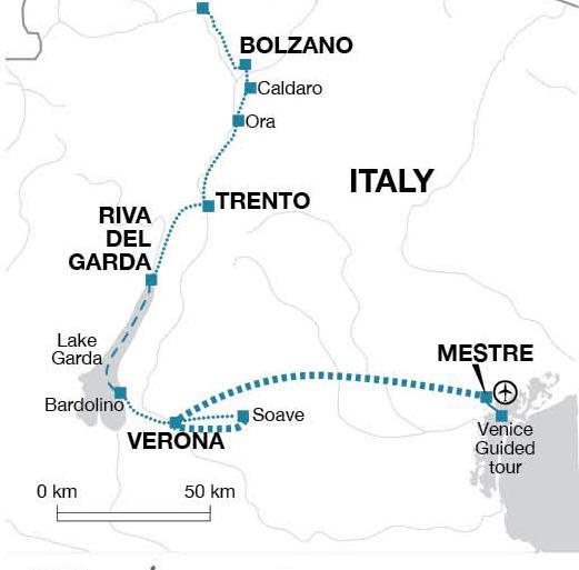 Cycle Dolomites, Lake Garda and Venice tour