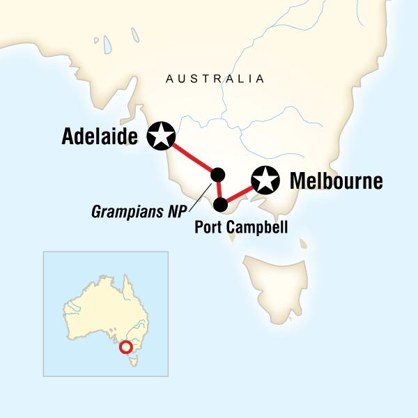 Adelaide Great Ocean Road Great Ocean Road West–Melbourne to Adelaide Trip