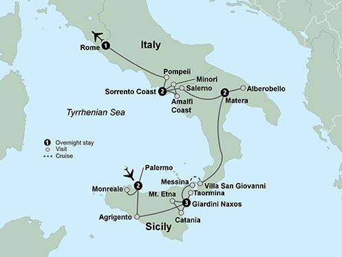 Matera Rome Southern Italy & Sicily featuring Taormina, Matera, Alberobello and the Amalfi Coast Trip