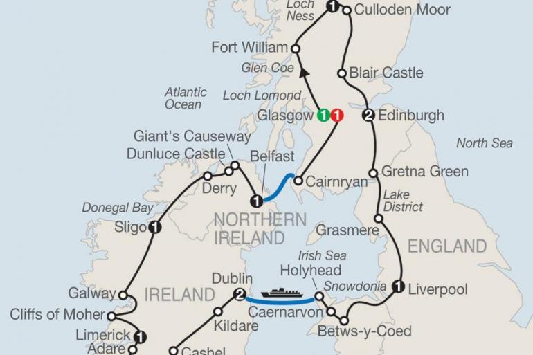 Belfast Blair Castle Celtic Highlights Trip