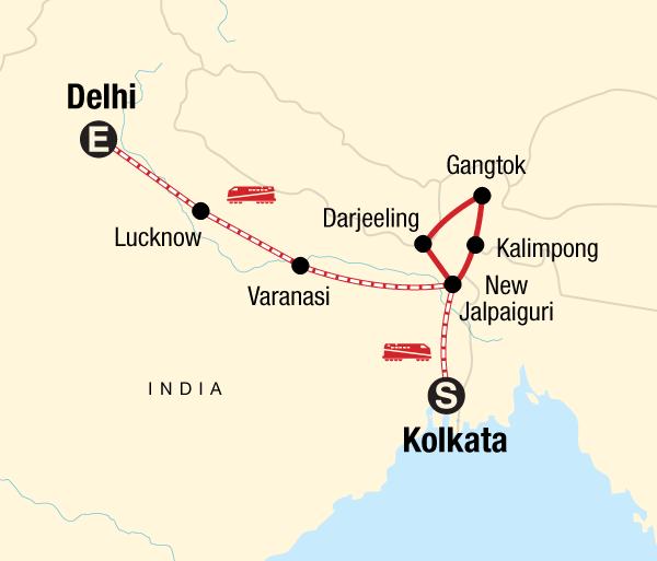 Darjeeling Delhi Northeast India & Darjeeling by Rail Trip