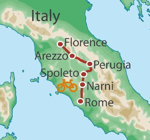 Cycling Cycling Florence to Rome by Bike package