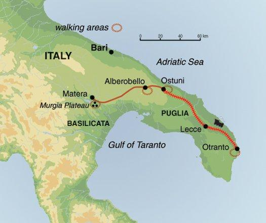 Hiking & Walking Hiking Self - Guided Walking in Puglia and Matera package