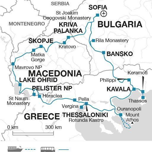 Sofia Thessaloniki Ancient Macedonia Trip