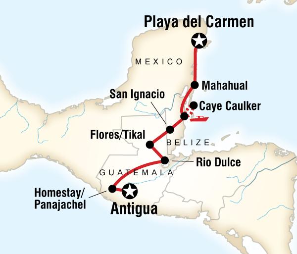 Antigua Cancún Mayan Sun–Northbound Trip