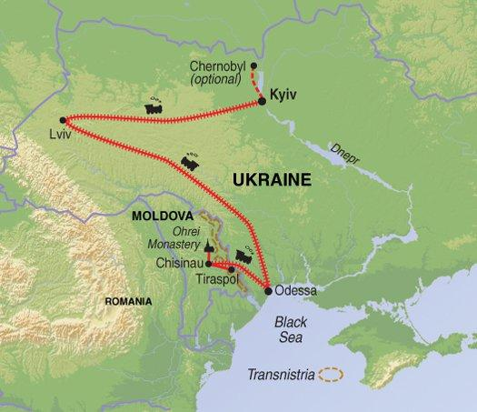 Cultural Culture Europe's Frontier: Moldova & Ukraine package