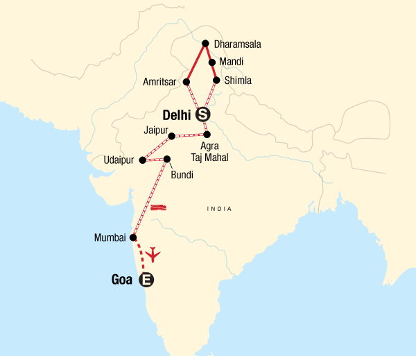 Agra Agra Fort Northern India & Rajasthan to Goa by Rail Trip