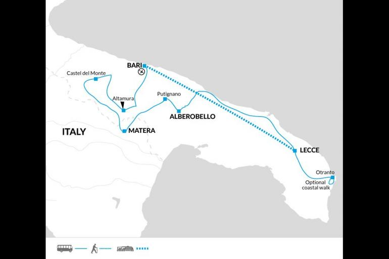 Cultural Cycling Highlights of Puglia package