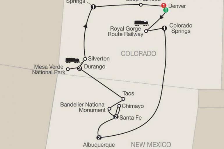 Albuquerque Denver Historic Trains of the Old West with Albuquerque Balloon Fiesta Trip