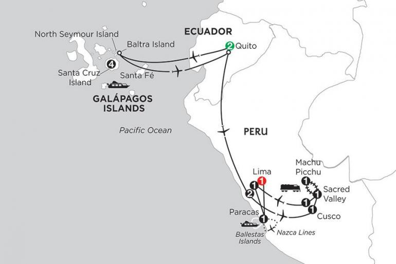 Cusco Guayaquil Galápagos Highlights & Peru with Nazca Lines Trip