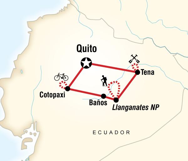 Cotopaxi Quito Ecuador Multisport Trip