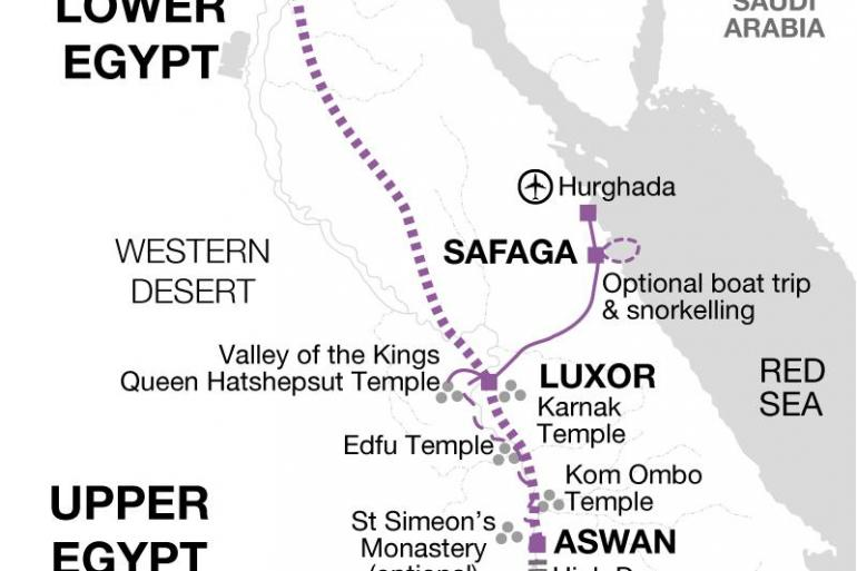 Nile Cruise + Red Sea Extension tour